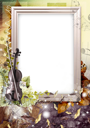Photo frame - Autumnal violin