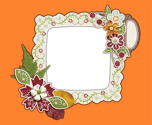Photo frame - Autumnal patterns