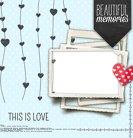 Photo frame - Beautiful memories of love in photo frame