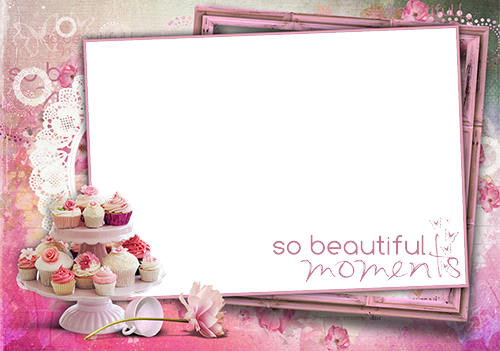 Photo frame - Beautiful Birthday cakes