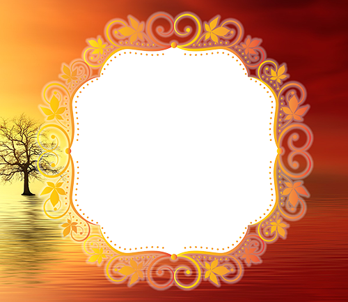 Photo frame - Beauty of sunset