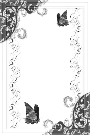 Photo frame - Black and white