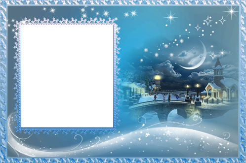 Photo frame - Blue fairytale