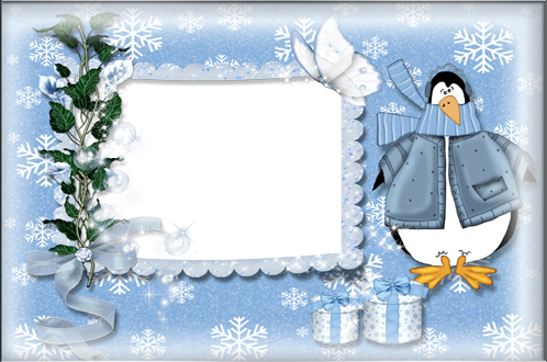 Photo frame - Blue winter