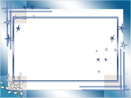 Photo frame - Blue stars of frosty Winter