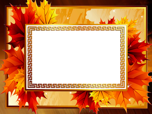 Photo frame - Bright autumn