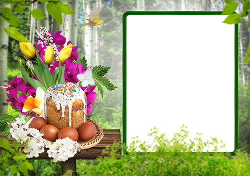 Cadre photo - Bright Easter photo frame
