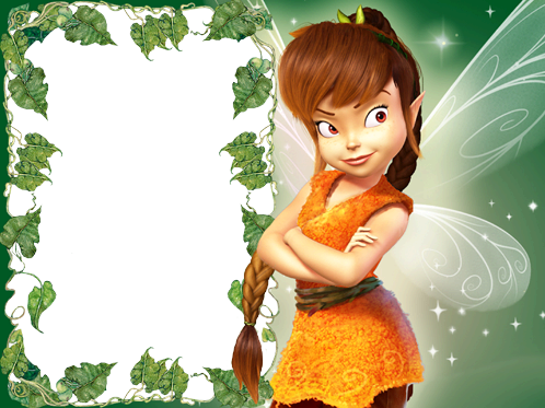 Photo frame - Brown fairy