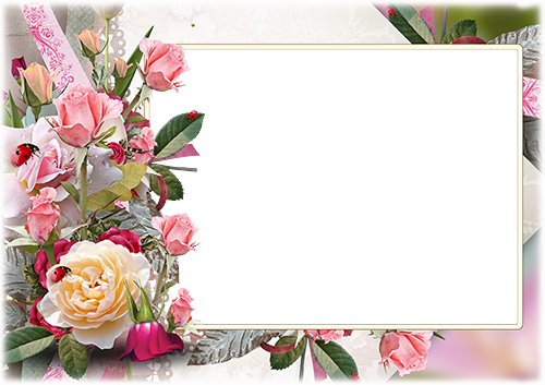 Photo frame - Bunch of a garden roses