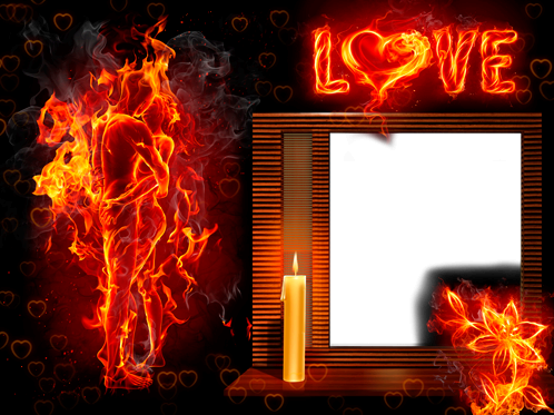 Photo frame - Burning love