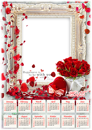 Photo frame - Calendar 2018. Happiness