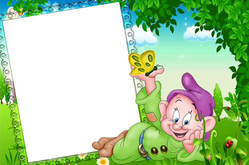 Photo frame - Cheerful gnome