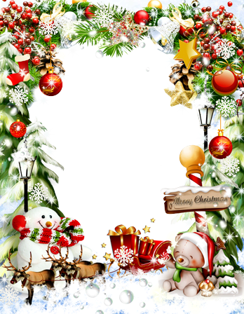 Photo frame - Christmas attributes