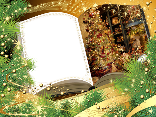 Photo frame - Christmas book