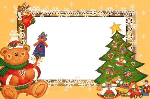 Photo frame - Christmas theme applique
