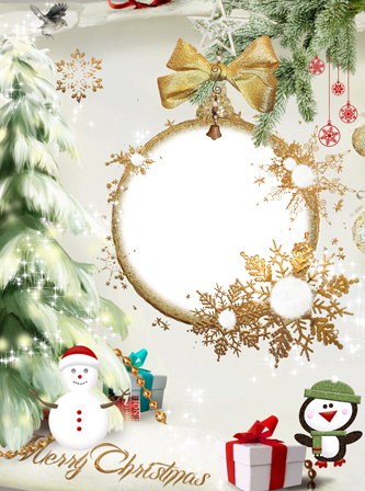 Photo frame - Christmas tree toy