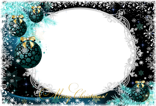 Photo frame - Christmas decorations with nice frostwork
