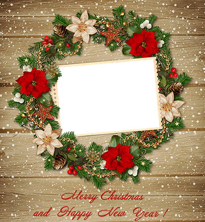 Photo frame - Vintage Christmas wreath