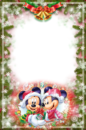 Photo frame - Christmas with Mickey and Minnie