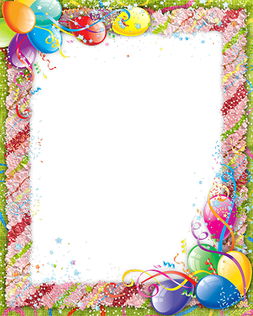 Photo frame - Photo frame with colored confetti on Birthday