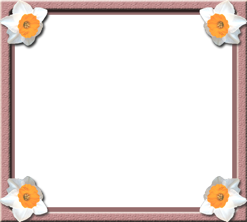 Photo frame - Flowers in the corner