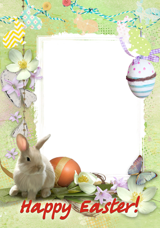Photo frame - Cute Easter Bunny