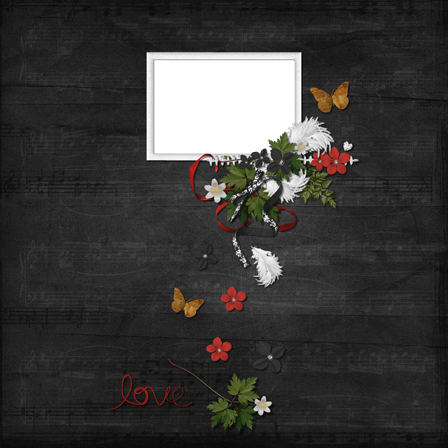 Photo frame - Dark love theme