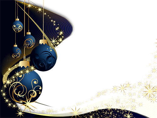 Marco de fotos - Dark blue decorations on Christmas