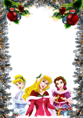Marco de fotos - Disney princesses wish you a Merry Christmas
