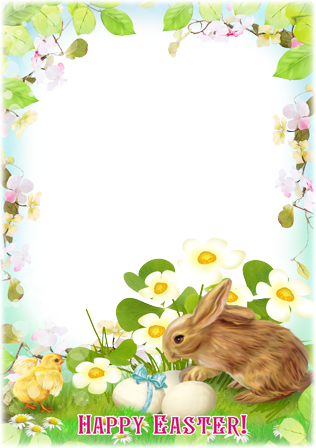 Photo frame - Easter Chicken and Rabbit