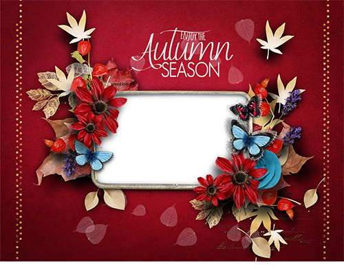 Photo frame - Enjoy the Autumn season