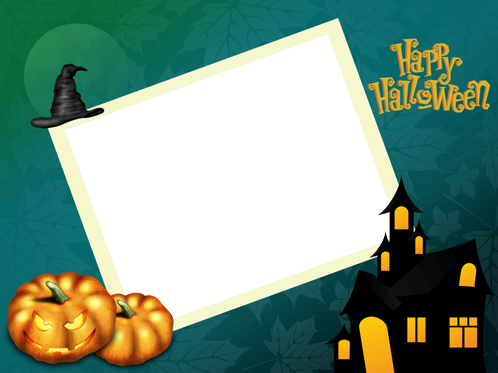 Photo frame - Big evil pumpkin