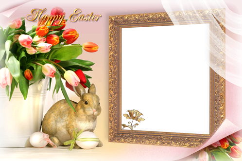 Photo frame - Family Easter