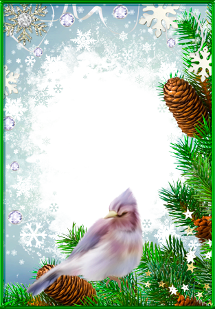Photo frame - Fantastic winter bird