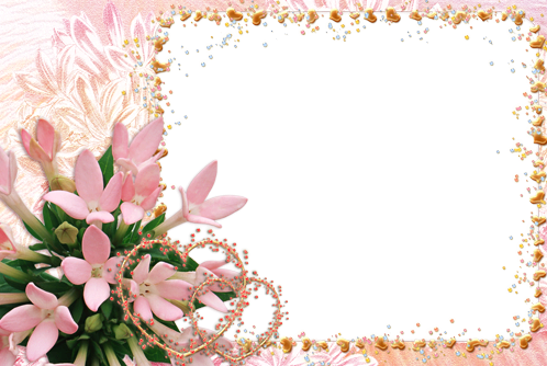 Photo frame - Flowers hearts