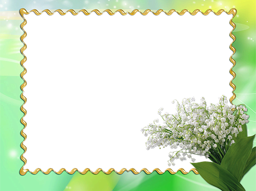 Photo frame - Flower photo frame with snowdrops