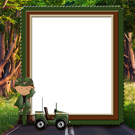 Nuotraukų rėmai - Frame with a boy in a military form