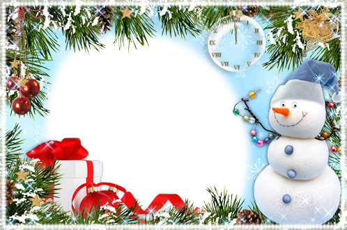 Photo frame - Funny snowman