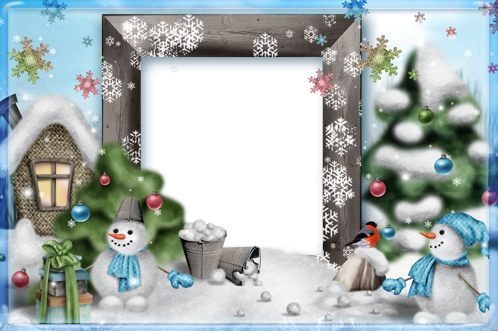 Photo frame - Funny snowmen