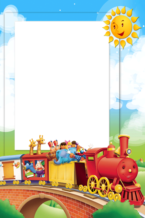 Photo frame - Funny train