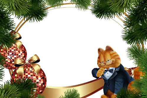 Photo frame - Garfield's New year