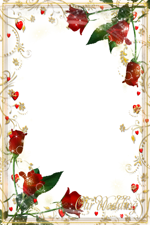 Photo frame - Golden curles wedding theme