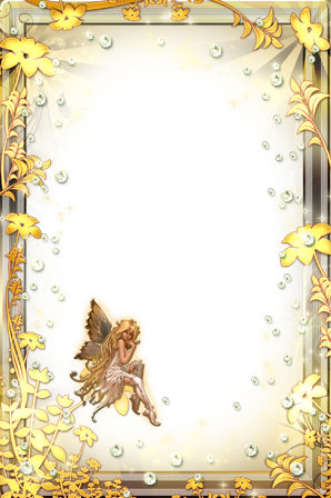 Photo frame - Golden fairy