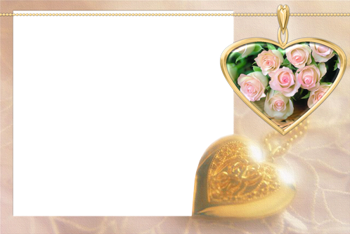 Photo frame - Golden heart pendant