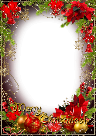 Photo frame - Gold shine of Christmas holiday