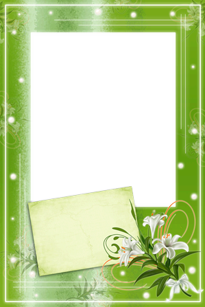 Photo frame - Green card
