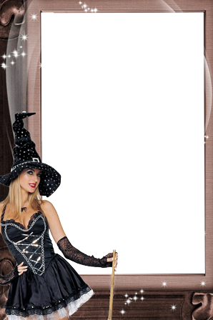 Photo frame - Halloween witch