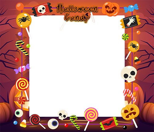 Photo frame - Halloween candy