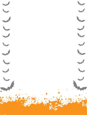 Photo frame - Halloween frame border with bats