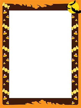 Marco de fotos - Halloween frame border with treats for kids